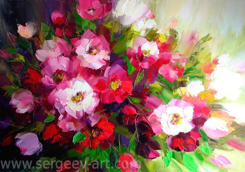 Красивая картина с цветами