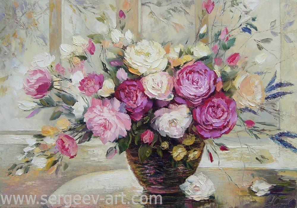 Живопись маслом картины цветы