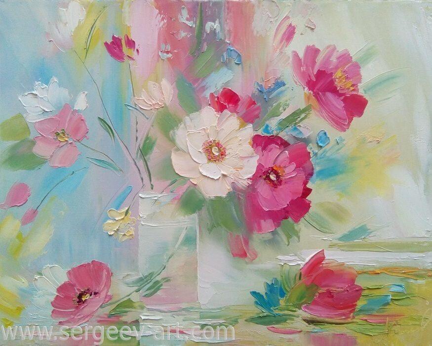 Живопись маслом. цветы